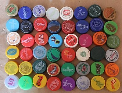 Chile Lot 48 Plastic Bottle Cap Coca Cola And other (#007)