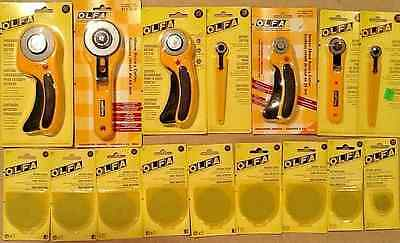 Olfa 16 Pc Lot Rotary Cutters 60 45 28 18Mm & 60 45 28Mm Blades Incl Erg Rty3 &1