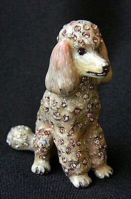 Jay Strongwater Pink Poodle DOG Mini Figurine NIB