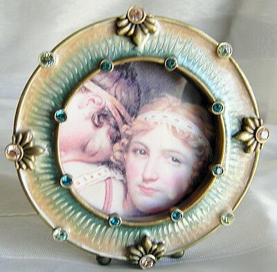 Jay Strongwater Agatha Round Frame MINT