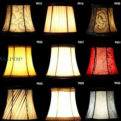 2 X Fabric Flower Lampshade for Pendant Wall Lamp Light Hanging Home Decor Retro