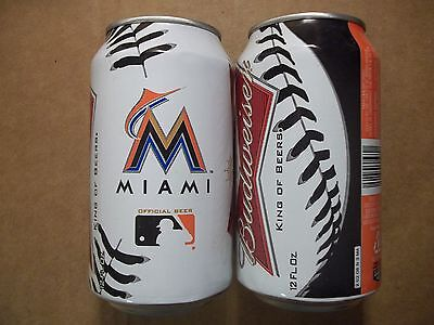 12 oz. Budweiser Beer Can  Miami Marlins  663077   Bud MLB Official Beer