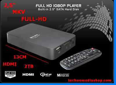fe Box Hdd player multimediale Video Mp3 FullHD Hdmi Rca Backup autoalimentato..