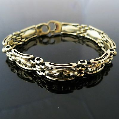 Very Nice Vintage Fully Hallmarked 9ct Yellow Gold Chain Linked Bracelet