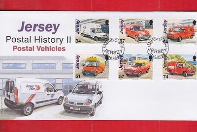 Jersey, 31st Oct 2006, Postal vehicles, First day cover, set of 6