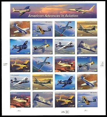 2005 - AMERICAN AVIATION - #3916-25 Full Mint MNH Sheet of 20 Postage Stamps