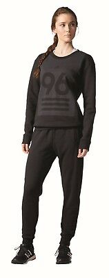adidas Damen Fitness Freizeit Trainingsanzug Crew Neck Suit schwarz