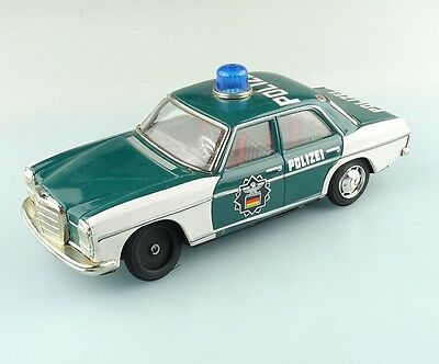 Taiyo made in Japan Blech Polizei Mercedes Benz für Bastler ca. 26cm #232