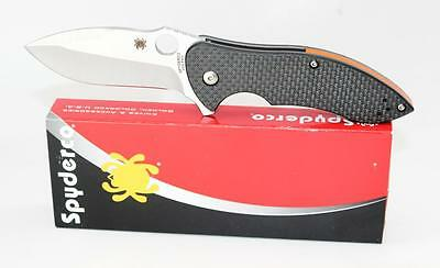 Spyderco Rubicon 2 Carbon Fiber Handle S30V Steel Flipper Plain Blade C187CFP2