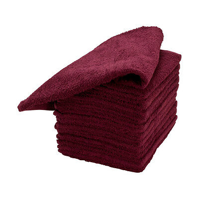 "12 Pack Cotton Salon Hair Towels 16-1/2"" x 27"""