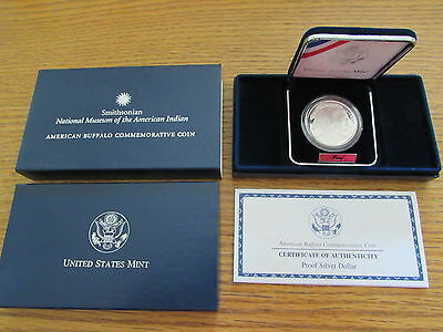 2001 American Buffalo Commemorative Proof Coin PR US Mint Bison Blue Box & COA