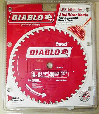"NEW Freud 8-1/4"" x 40 Tooth Diablo Circular Saw 5/8"" Arbor Blade D0840X"