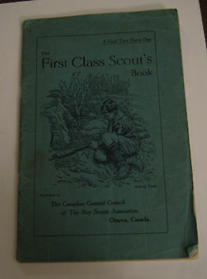 The First Class Scout's Book Boy Scout Association Canada 1937 14th Edition