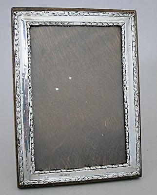 BEAUTIFUL ANTIQUE SOLID STERLING SILVER PICTURE PHOTO FRAME m