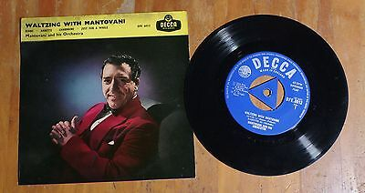 "'Waltzing With' MANTOVANI 7"" 7 inch vinyl mono single EP Decca DFE 6013"