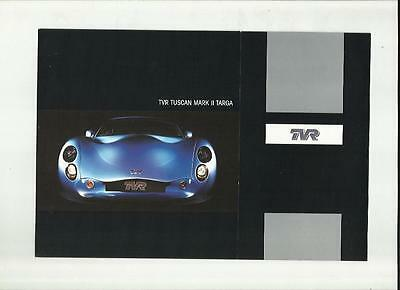 RARE TVR TUSCAN MARK II TARGA SALES BROCHURE EARLY 2000's