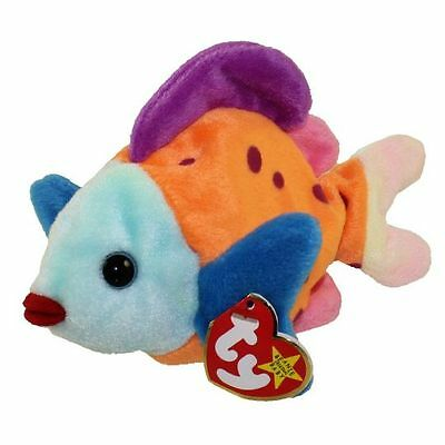 TY Beanie Baby - LIPS the Fish (8 inch) MINT WITH ALL TAGS 1999