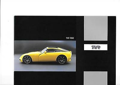 RARE TVR T350 SALES BROCHURE EARLY/MID 2000's