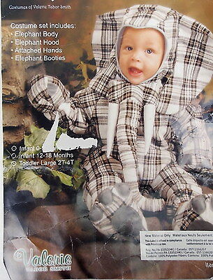 Living Fiction Infant Elephant Halloween Costume by Valerie Smith 12-18 Mo  #H98