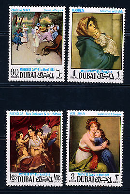 Dubai 1968 Art Mothers Day Paintings  Michel 303A-06A
