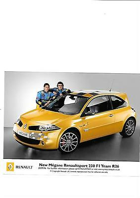 Megane Renaultsport 230 F1 Team R26 (Alonso) Press Photo 'brochure' 28/9/06