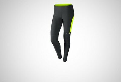 New Womens Black Nike DriFit Filament Long Running Tights Size 14 Large