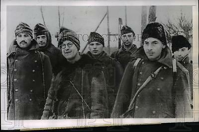 1944 Press Photo Ukranian front Hungarian soldiers POWS of Red Army - nem40535