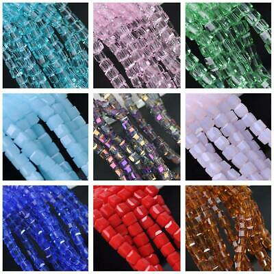 Wholesale 50pcs 3mm Cube Square Faceted Crystal Glass Loose Spacer Beads Jewelry