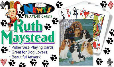 Playing cards: Cavalier King Charles Spaniel Designed by Ruth Maystead (KCS-PC)