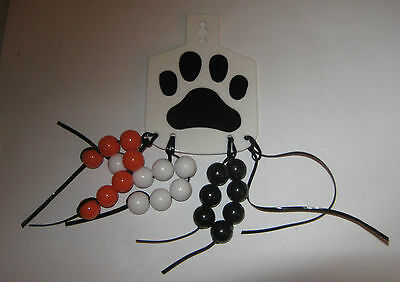 Boy Scouts of America BSA Tiger Cub Scout Totem Leather Plastic with Beads