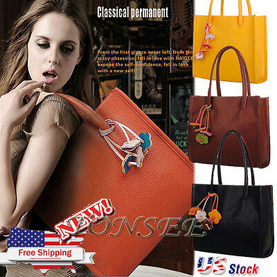 Women Leather Handbag Shoulder Bag Messenger Hobo Satchel Tote Crossbody Bag US
