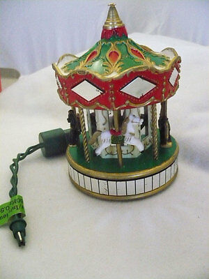 Noma Ornamotion Collectable Xmas Moving Ornament Merry-Go-Round 4 horses