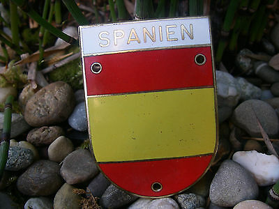 very nice vintage SPAIN SPANIEN ESPAGNE ESPAÑA enamel Car Badge Plakette Placca