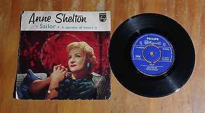 "'Sailor - A Souvenir of Ireland' ANNE SHELTON 7"" single EP Philips PB 1096"