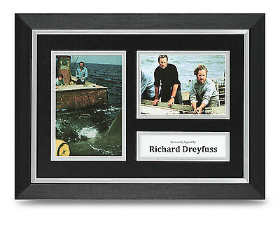 Richard Dreyfuss Signed A4 Photo Framed Jaws Memorabilia Autograph Display COA