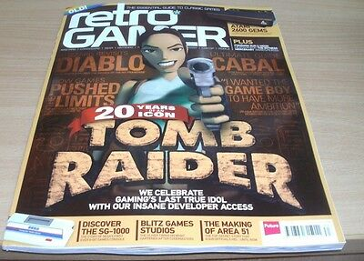Retro Gamer magazine #163 2016 20 Years of Tomb Raider + Diablo, Cabal, Atari