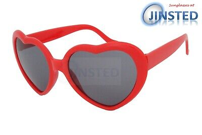 Lolita Red Heart Shaped Sunglasses Girls Womens Teenager Small Adult Shade TH002