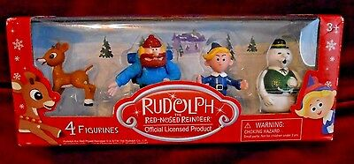 4 pc NEW 2016 RUDOLPH THE RED NOSED REINDEER TV Movie FIGURINES FIGURES