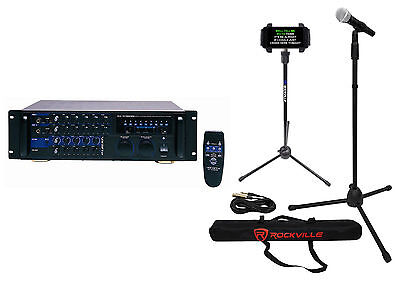 Vocopro DA-3700 Pro 240w Powered Karaoke Mixer/Amp+Mic+Stand+Bag+Tablet Stand