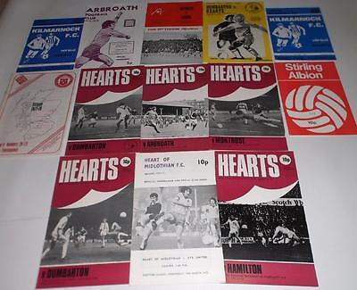 Heart of Midlothian x13 H&A Football Programmes 1976-1978 Hearts FC Job Lot