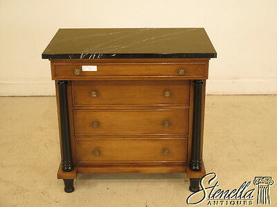 23706E: Italian Made French Empire Style Marble Top Commode