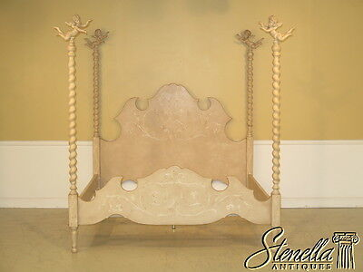 23240E: PATINA Italian Made King Size Venetian Bed w. Cherubs