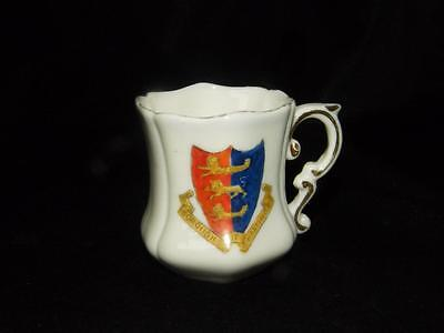 Antique Crested China Tankard ~ Hastings