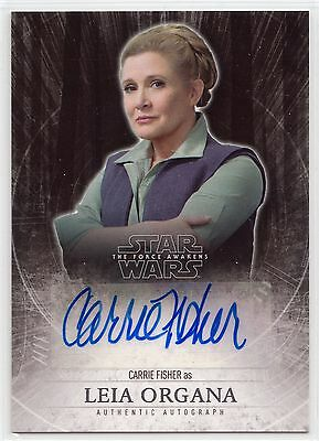 2015 Star Wars The Force Awakens Carrie Fisher as Leia Organa Autograph Card