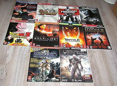 Lot of 10 Strategy Guides Star Wars, Half-Life, Quake, Maximo, Dragon Ball Z