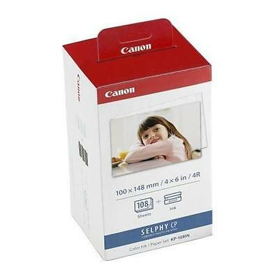KIT cartucce/carta ORIGINALE Canon KP-108IN Value Pack per Selphy CP-1200