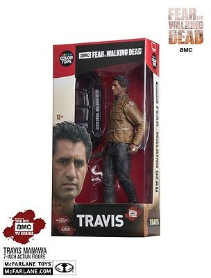 """FEAR THE WALKING DEAD COLOUR TOPS RED TRAVIS MANAWA 7"""" ACTION FIGURE McFARLANE"""