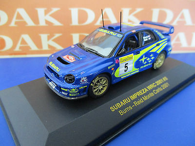 Die cast 1/43 Subaru Impreza WRC N5 Rally Montecarlo 2001 Burns by Ixo