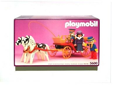 Rare Vintage 1989 Playmobil Horse Drawn Carriage for Victorian Mansion - NIB
