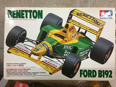 Tamiya Benetton Ford B192 Model Kit 1/20 New And Unassembled Complete Unused
